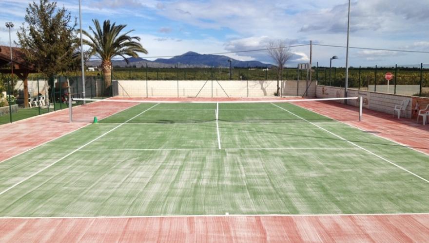 Pistas de tenis de c sped artificial - Cesped artificial alicante ...