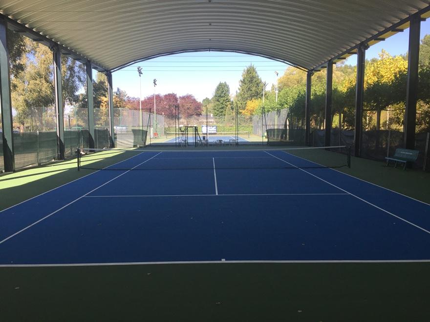 pista de tenis resina azul y verde celabasa
