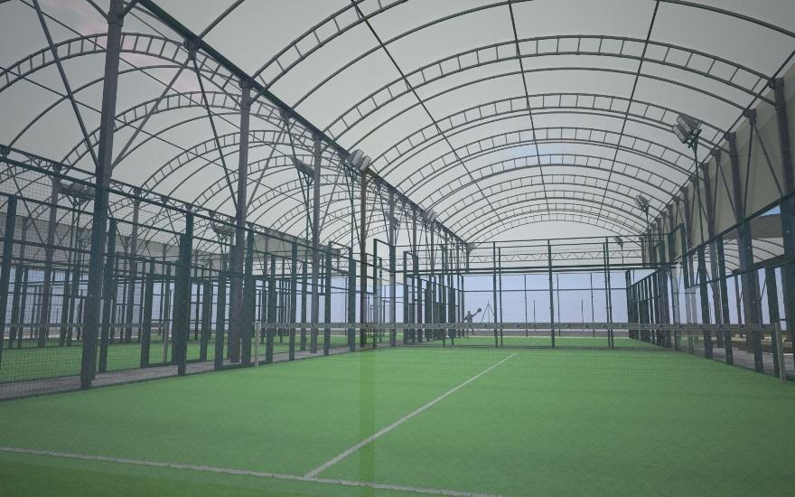 cubiertas para pistas de pádel y tenis